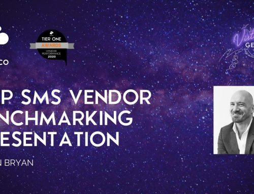 A2P SMS Vendor Benchmarking 2020 Presentation at Virtual Genesis